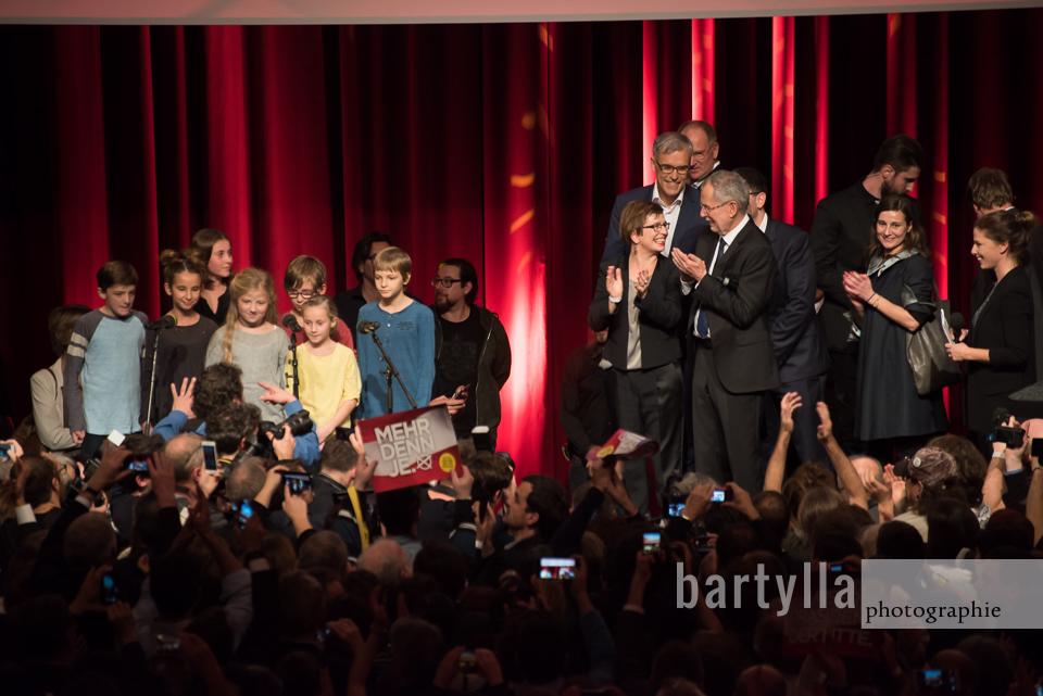 Van der Bellen, Bundespräsidentenwahl, 2016, Sofiensäle